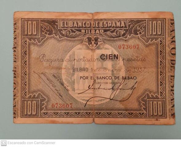 50 Pesetas 1937 Banco De España Bilbao
