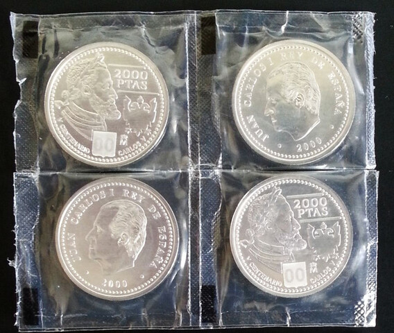 Monedas Plata 2000 Pesetas (No Compro)