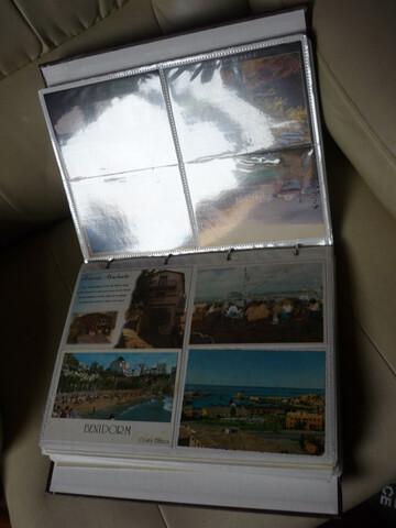 Varios Albunes De Postales Antiguas Y