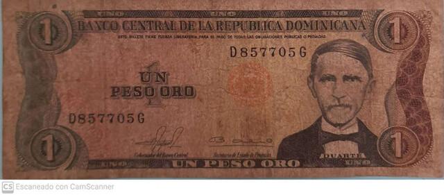 1 Peso Oro República Dominicana