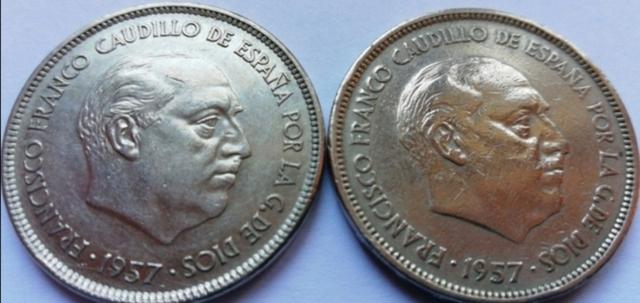 Ptas. Franco 1949 + 1957