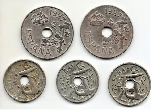 Lote De Monedas De España Del Agujero