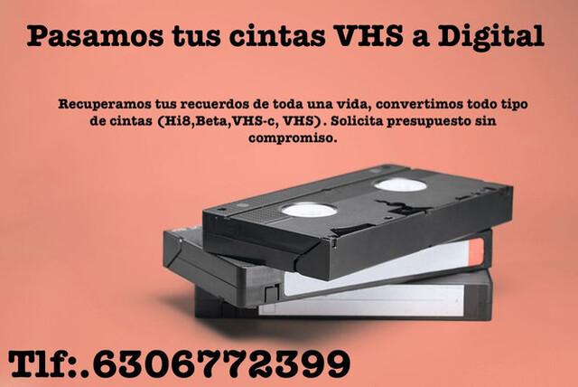 PASAMOS TUS CINTAS VHS A PEN DRIVE - foto 1