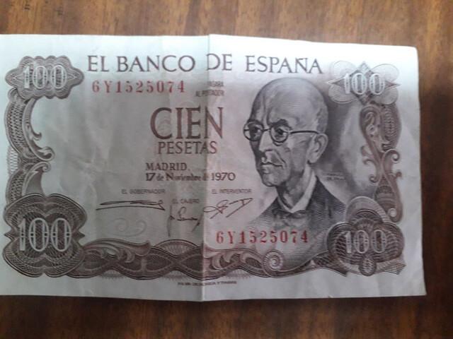 100 Pesetas  De 1970