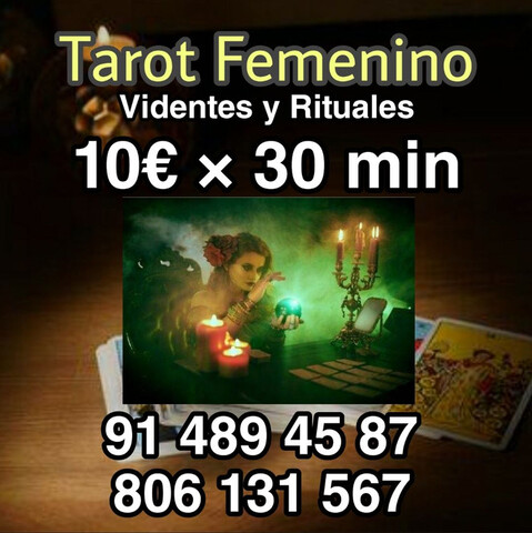 TAROT FEMENINO 10 € 30 MINUTOS ECONÓMICO - foto 1