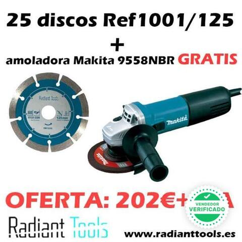 Pack 25 Discos + Amoladora Makita Gratis
