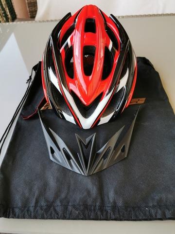 Casco Mtb Shinmax Color Rojo Y Negro
