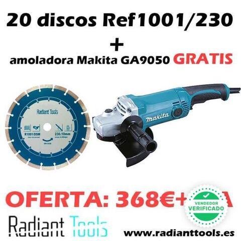 Pack 20 Discos 230 + Amoladora Makita