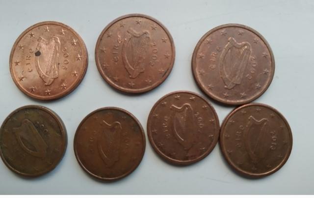 Monedas De 1 Y 2 Céntimos Euro Irlanda