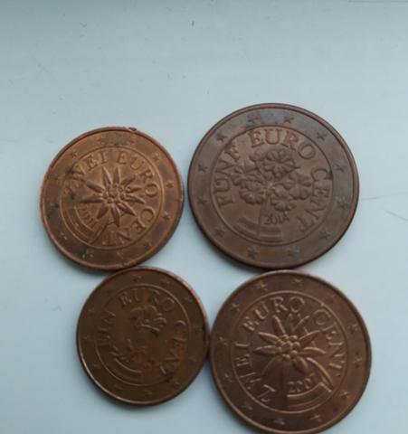 Monedas De 1,2 Y 5 Céntimos Euro Austria