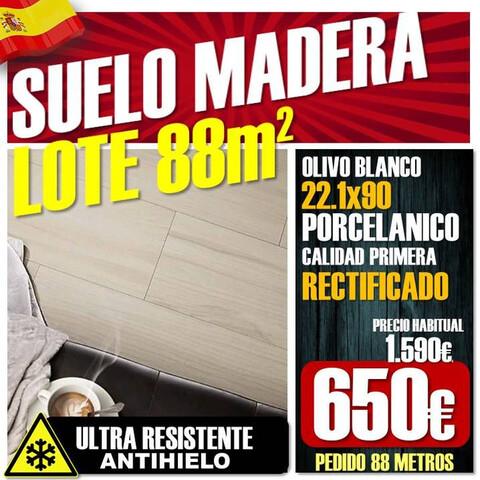 Lote Suelo Porcelanico Madera 22X90 Rect
