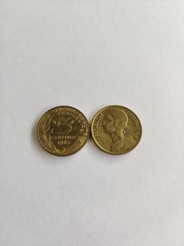 Moneda De Francia 5 Céntimos
