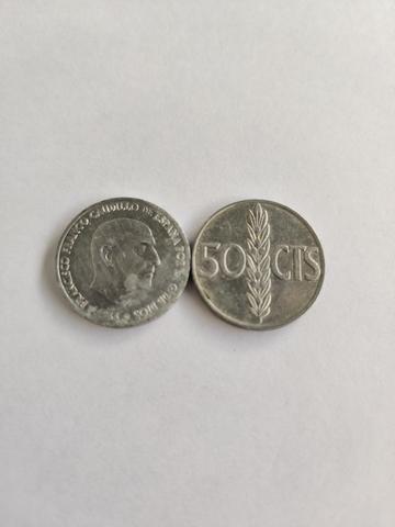 Moneda 50 Céntimos (Francisco Franco) Co