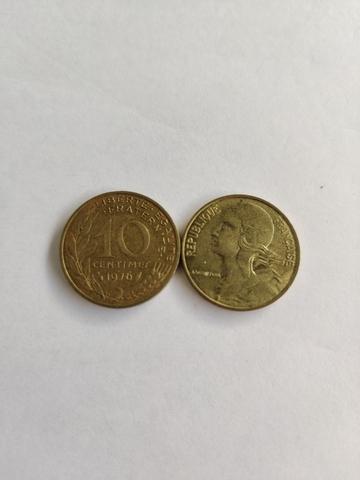 Moneda 10 Céntimos Francesa 1975 Colecci