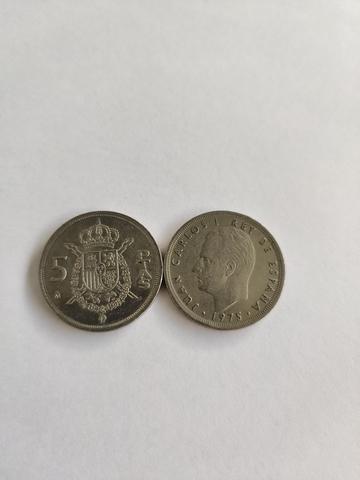 Moneda 5 Pesetas De España Juan Carlos
