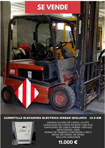 CARRETILLA ELEVADORA ELECTRICA NISSAN - foto 1