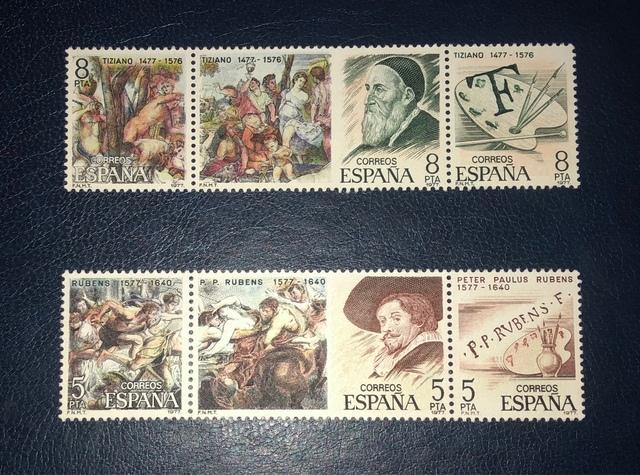 Lote 6 Sellos España 1978-Pintores....-!