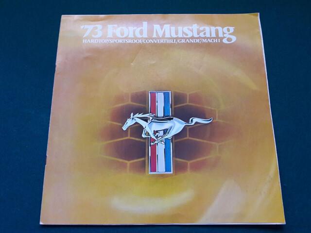 Catálogo Ford Mustang 1973