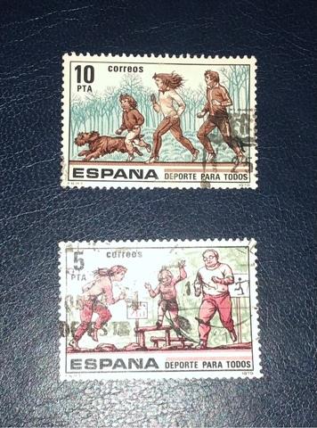 Lote 2 Sellos España 1979-Deporte-!!