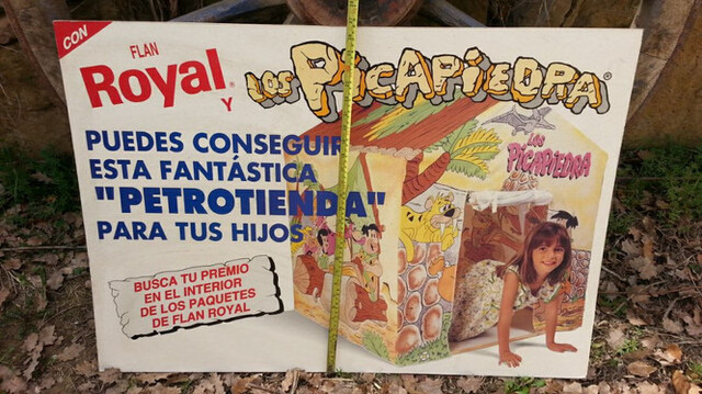 Cartel De 2 Caras  Años 70 Flan Royal