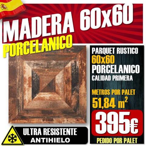 Suelo 60X60 Madera Rustica Porcelanico
