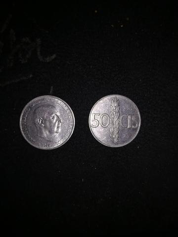 10 Monedas 50Cts, 1966 Franco