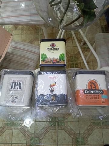 4 Cajas Metálicas Beer Factory