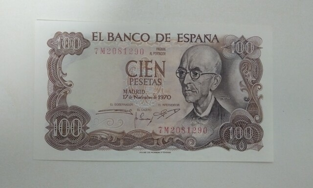 Billete 100 Pesetas Manuel De Falla