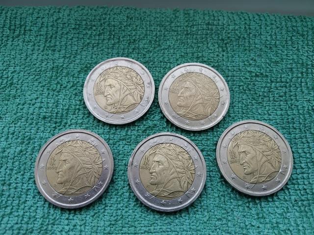 Monedas De 2 Euros Italia 2002 Dante