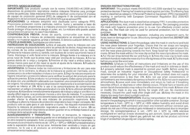 MASCARILLA FFP2 CERTIFICADO CE (20UDS) - foto 7