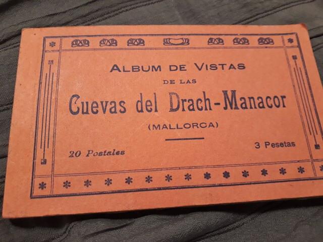 Libro Postales Cova Drac Menorca Antiguo