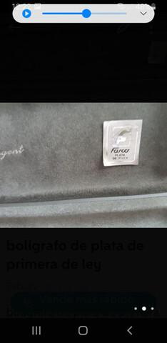 BOLÍGRAFO DE PLATA    DE PRIMERA DE LEY - foto 2