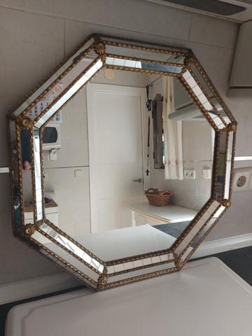 Espejo Antiguo Con Cristales