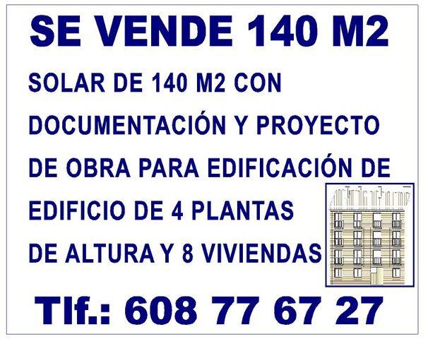 SE VENDE SOLAR DE 140 M2 - foto 1