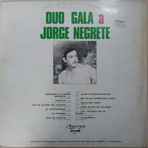LP 1971 DÚO GALA A JORGE NEGRETE - foto 2