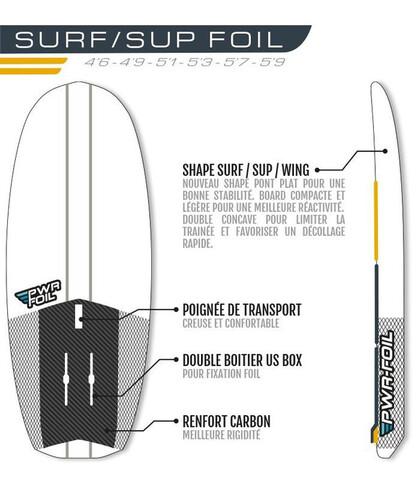 NEW 2021 SURF FOIL 5'3 REDWOODPADDLE - foto 2