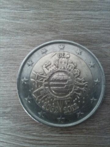 Moneda 2 Euros. Bélgica 2012 Aniversario