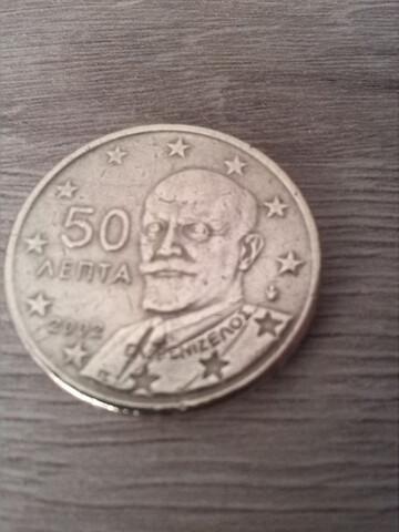 Moneda De 50 Céntimos De Euro. 2002.