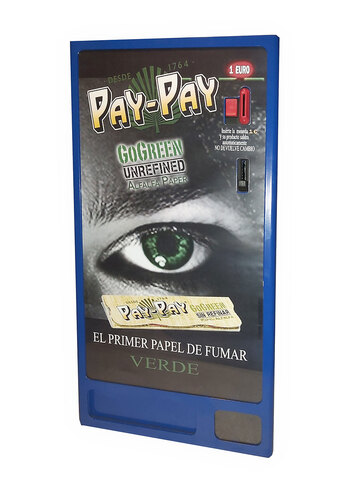 MAQUINA EXPENDEDORA PAPEL FUMAR PAYPAY - foto 1