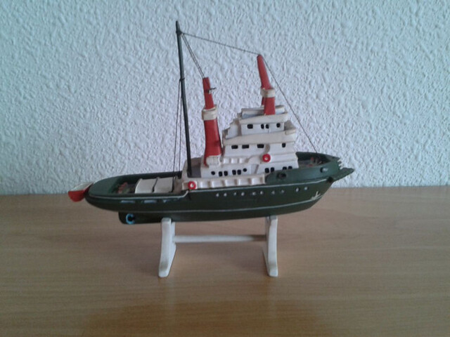 Barco Rescate Remolcador Miniatura