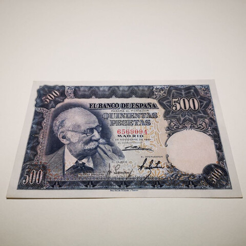 Billete 500 Pesetas 1951