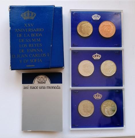 España Estuche 500 Pesetas Proof  1987