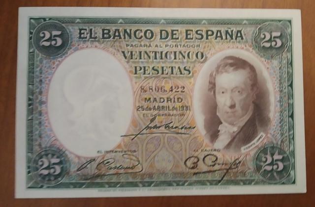 Billete 25 Pesetas Año 1931