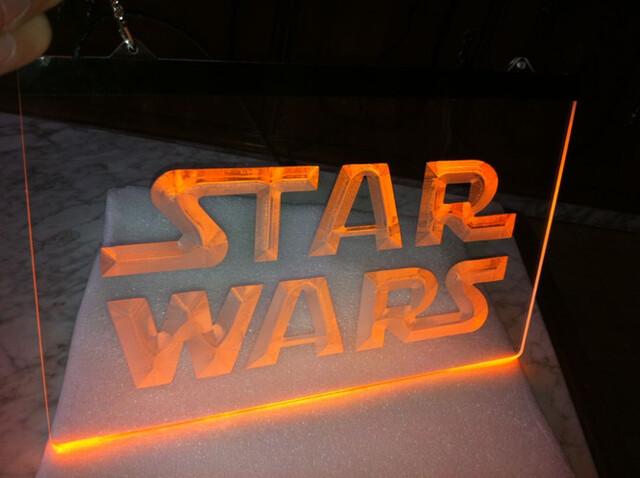 Cartel Cartel Luminoso Star Wars