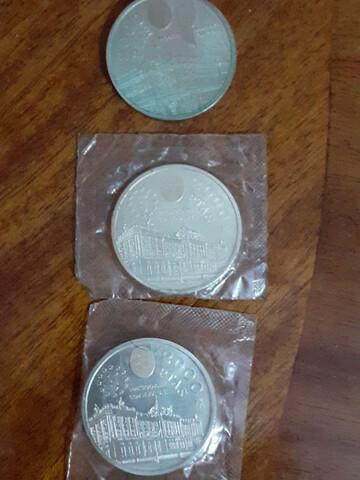 Lote 3 Monedas De Plata 2000 Ptas