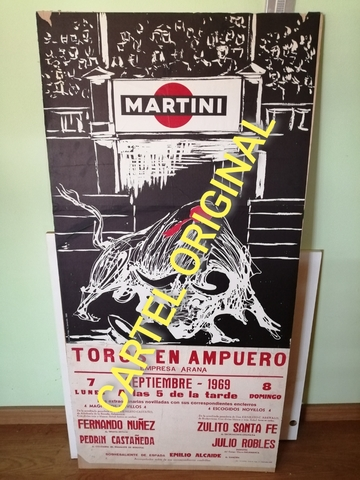 Cartel De Toros Original 1969