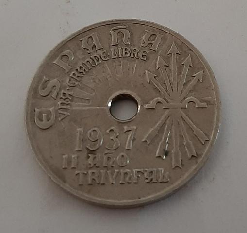 25 Céntimos 1937.