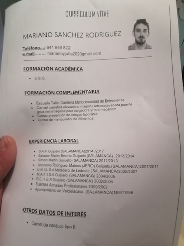 BUSCO EMPLEO,  SECTOR CÁRNICO.  - foto 1