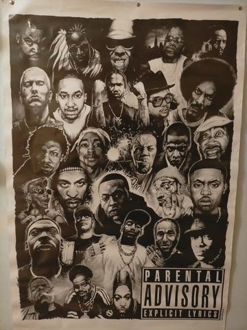 Poster Raperos Americanos