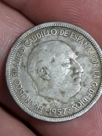 Moneda De 5 Pesetas De Caudillo De 1957